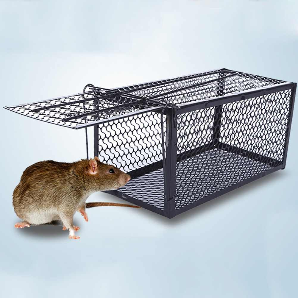 One Pot End Automatic Metal Trap Cage Home Trap Hamster Box Rodent Animal Control Humane Mouse Rat Cage Bait Live
