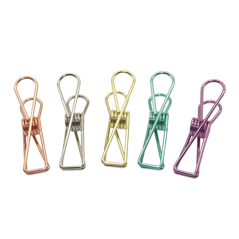 5 Pcs Multicolor Metal Binder Clips Paper Clip 55*12mm  Paperclips Photo Bill Practical Clip Office Learning Supplies