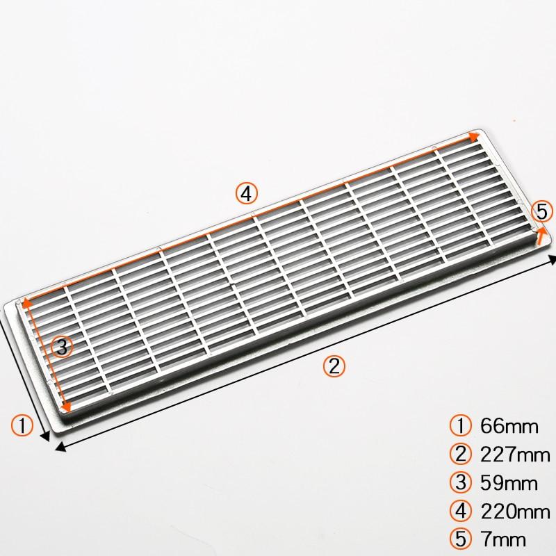 20Pcs/Lot 66*227mm Plastic Air Vent Ventilator Grille Cover Ventilation For Closet Shoe Cabinet
