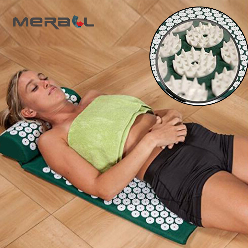 Yoga Acupuncture Pillow Massage Pad Three Set Mat Relaxation Relieve Stress Pain Removal Health Care Black Therapy Massage ToolYoga Acupuncture Pillow Massage Pad Three Set Mat Relaxation Relieve Stress Pain Removal Health Care Black Therapy Massage Tool