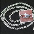 16-30 Venda Quente Popular Agradável Curb Plano Colar Correntes Com Lagosta Fechos Belas 925 Sterling Silver Jewelry 4mm 10 PCS Xl076
