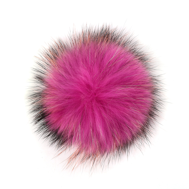 Natural raccoon fur ball key chain fur hat winter hats Fur pom pom for shoes fur cap jewelry women clothing accessories