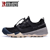 REETENE New Men Running Shoes Sports Fashion Lace Up Men Flats Shoes High Quality Spring Autumn Tenis Shoes For Men Sneakers