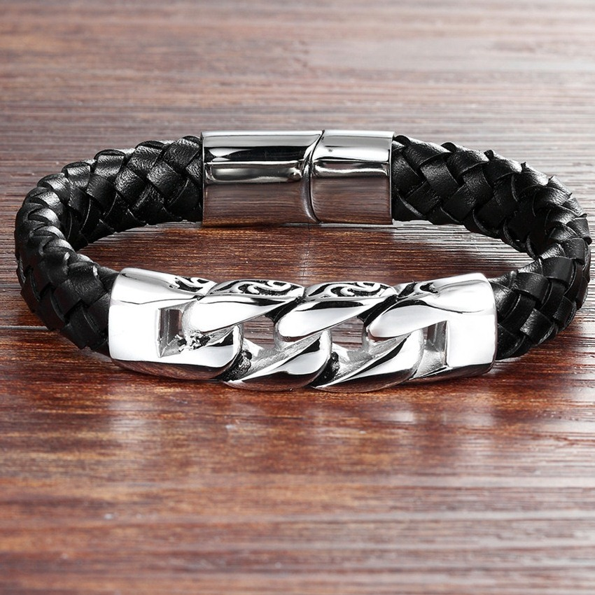 XQNI Birthday Gift Multiple Styles Personality Neo-Gothic Genuine Leather Bracelet For Men Magnificent For Accessories Jewelry