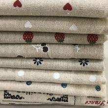 Плотная льняная ткань для наволочки, чехол lien, полиэстер, ткань с принтом сердца, узор для DIY, пэчворк, L05