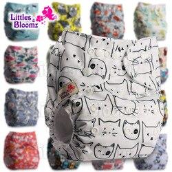 Littles & Bloomz Baby Waschbar Wiederverwendbare Echte Tuch Tasche Windel Abdeckung Wrap anzüge Geburt zu Töpfchen Eine Größe Windel einsätze