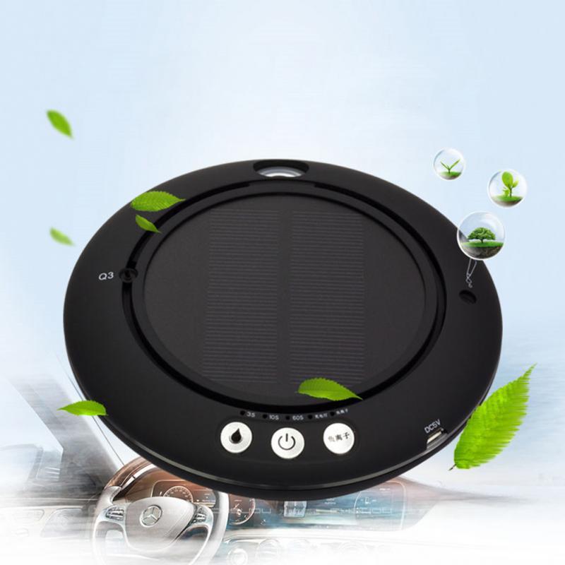 Car Air Freshener USB Aroma Diffuser Solar Power Anion Air Purifier Multifunctional Car Charger