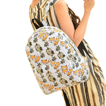 School Backpacks Kople 2017 Cartoon Owl Fox Girl Boy Student Shoulder Bag Fashion Women Travel Satchel