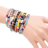 Shinus Miyuki Bracelets Summer Beach Jewelry Bracelet Women Bohemian 5pcs lot Colorful Fashion Pulseras Miyuki Tila Beads