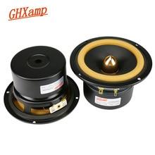 Ghxamp Hifi 4 inç tam aralıklı hoparlör 4ohm 25W ev sineması deri kenar mermi Anti manyetik 2 adet