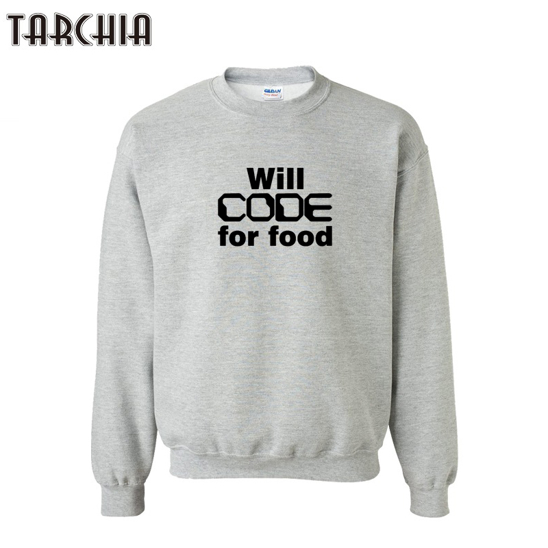 TARCHIA Men Hoodies WILL COOK FOR FOOD Printed Hip Hop Men Casual Sweatshirts Male Tracksuits Outwear Men Pullovers Hoodies