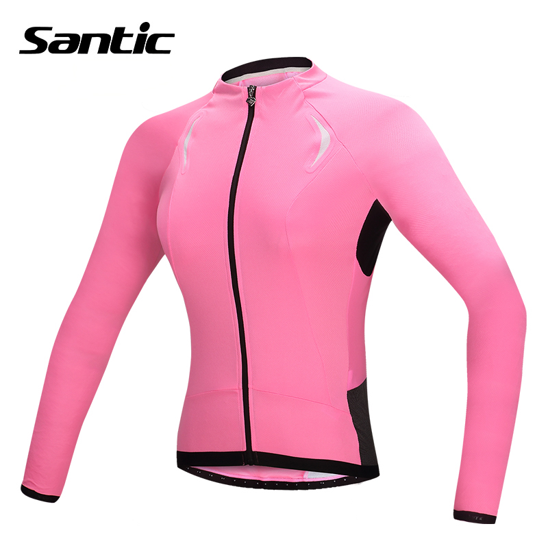 Santic Pro Racing Cycling Jersey Women Long Sleeve Bicycle Jersey Anti-Sweat Road Mtb Bike Jersey Tour De France Ropa Ciclismo santic men cycling jerseys pro tour de france triathlon racing team mtb road bike bicycle clothing maillot ropa ciclismo 2017