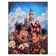 Diamond mosaic Cartoon Mickey Mouse Couple Square painting Cross stitch 5D DIY embroideryDecorative paintings