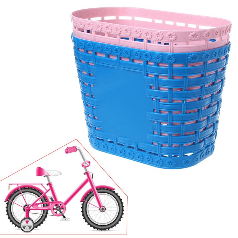 Bicycle Basket Children <font><b>Bike</b></font> Tricycle Scooter Supplies Handlebar <font><b>Carrier</b></font> Outdoor Cycling Storage Front Shopping Kids <font><b>Accessories</b></font> image
