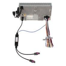 Adaptador de DVD GPS de Radio para la Instalación de Dos Maneras Antena Fakra Adaptador DIN Cable de Conexión para VW Audi BMW Benz Peugeot