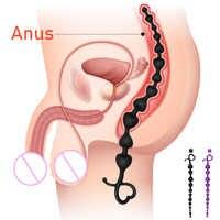 FLXUR Long Anal Beads juguetes sexuales para hombres y mujeres Flexible Anal Butt Plug masturbación dilatador G spot estimulador para sexo gay Juguetes