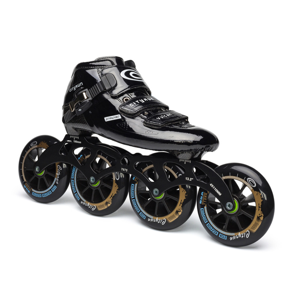 JEERKOOL Cityrun Professional Speed Inline Roller Skates for Kids Adult Carbon Fiber 4 Wheel Racing Speed