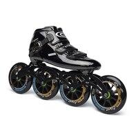 JEERKOOL оригинальные профессиональные скоростные роликовые коньки Cityrun для детей и взрослых, углеродное волокно, 4 колеса, гоночная обувь для к