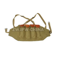 WWII US AMRY THOMPSON CHEST RIG MAGAZINE 4 CELL 30 ROUNDS MAGAZINE AMMO POUCH US CN