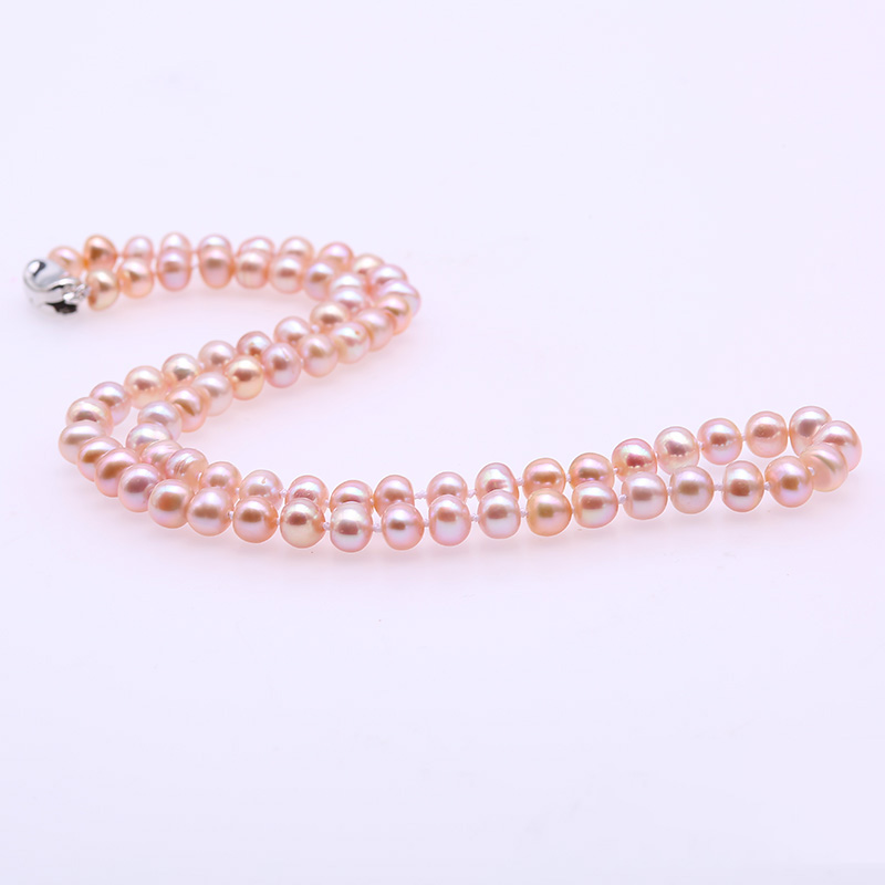 купить JYX 6-7mm Multicolor Pearl Necklace 925 Silver Natural Freshwater Pearl Necklace Women Choker Necklace 18