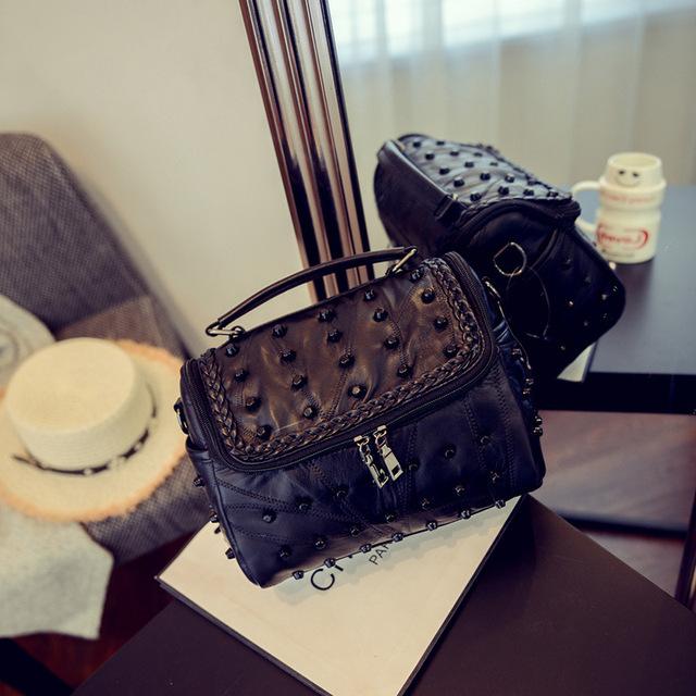 MY03 Luxury sac Designer Handbags Women Big Bags For Women purses 2018 Fashion Genuine Leather Skull Shoulder messenger Bags