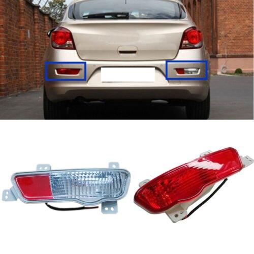 Left Side Red+Right Side Red White Lamp Rear Bumper Fog Lamp For Chevrolet Cruze red