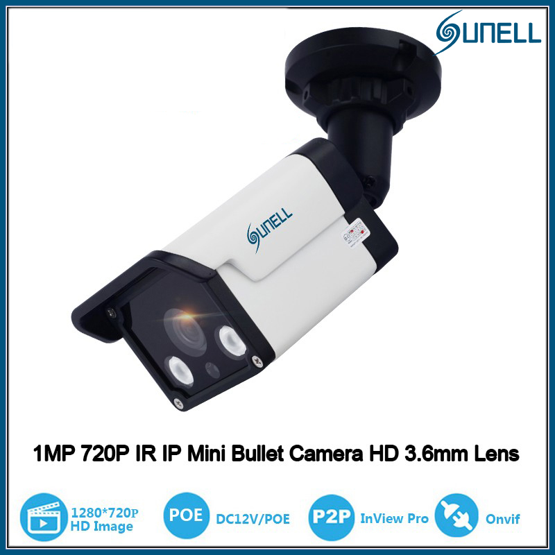 ФОТО Sunell 1.0 Mega Pixel 720P HD-IP Outdoor Network ONVIF POE IP Security Surveillance Camera with IR Cut Day Night Vision Bullet