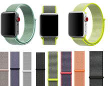 YIFALIAN Woven Fabric Loop Strap Nylon WatchBands for Apple Watch 38mm/ 42mm