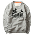 Unique Zombie Hate Fast Food letters printed design Hoodies Sweatshirt new Fashion Casual Customized Men Zombies swewatshirt
