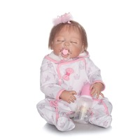 2017 Hotsale 22inch 55cm Reborn Baby Doll Full Vinyl Body Doll NPKCOLLECTION Doll For Children Gift