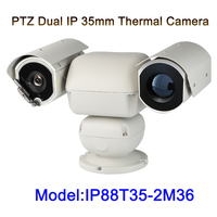 36x זום 2MP 1080 p כפול מקור אור 3 km למרחקים ארוכים מצלמה הדמיה תרמית Ptz IP עבור יער אש הגנת גבול החוף