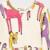 Las niñas se Visten de Algodón de Navidad Ciervos Sika Animales Traje de Invierno de Impresión de Manga Larga Vestidos Para Niños Niñas de Invierno Vestido de Novia
