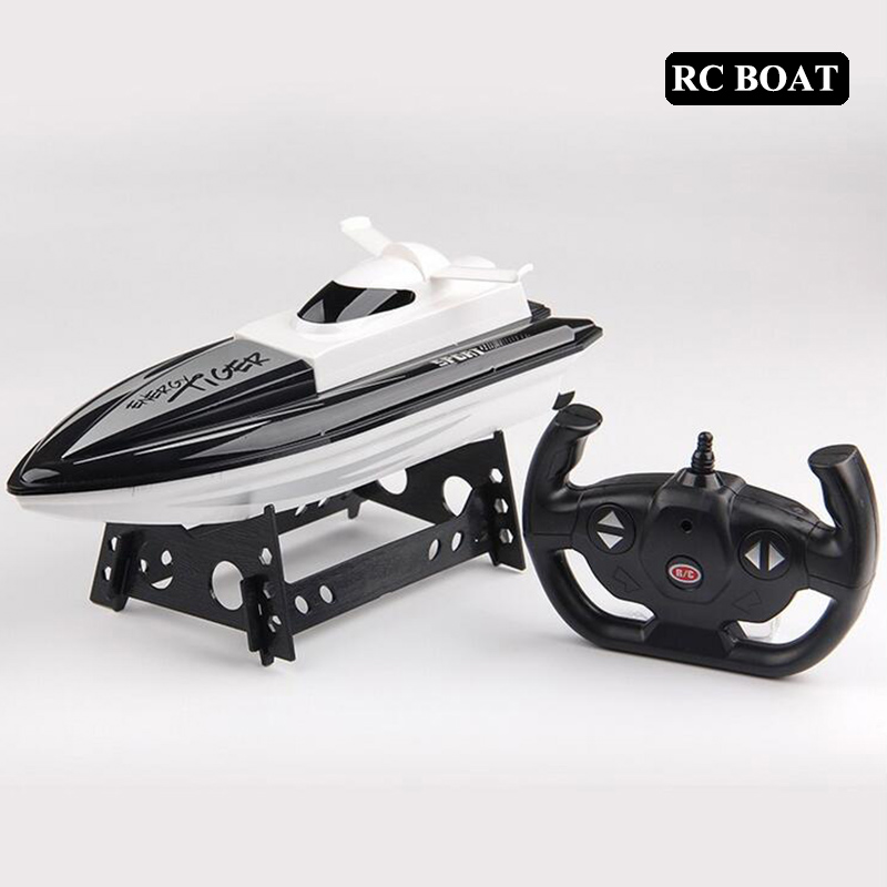 2.4GHz RC Boat 20km/h High Speed Racing Remote Control Boat with LCD Screen as gift For children Toys Kids Gift ft007 rc yacht 4ch 2 4g 20km h omni direction high speed racing boat