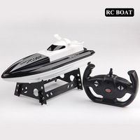 2.4GHz RC Boat 20km/h High Speed Racing Remote Control Boat with LCD Screen as gift For children Toys Kids Gift