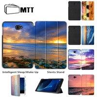 MTT Màu Sơn Lật Trường Hợp Đối Với Samsung Galaxy Tab Một A6 10.1 2016 T580 T585 SM-T580 Thông Minh Tablet Trường Hợp Bìa Funda Sleep/Wake lên