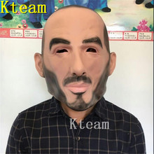 Top Grade Funny Halloween Party Cosplay Famous person Man David Beckham Face Mask Real Human Cool realistic mask