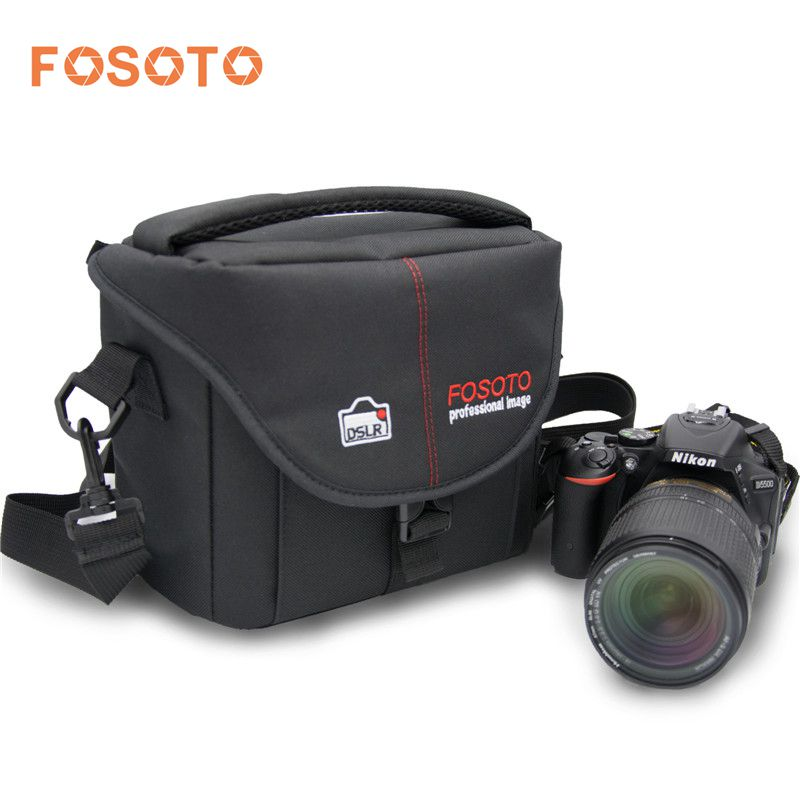 fosoto Camera Bag Nylon Case Photo Video Photography Should Bags for Canon Nikon D3300 Sony Pentax Samsung Panasonic DSLR Camera ...