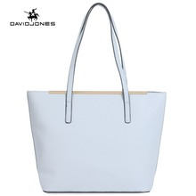 DAVIDJONES Tote Bag Women Female PU Shoulder Bags Handbag Top-Handle Handbag bolsa feminina bolso mujer sac a main tassen