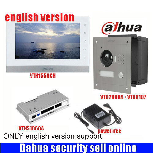 Mutil language 7inch Touch Screen Dahua VTH1550CH Monitor with TO2000A outdoor IP Metal Villa Outdoor Video Intercom sysytem блузка quelle concept club 1034758