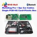 2016 Mejores TCS CDP Multidiag Pro Bluetooth Sola Tarjeta Para El Coche Camión Escáner Multi-diag Pro + Cables de Coches + Tarjeta de 4G TF + Caja De Plástico + R3
