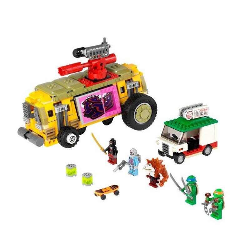 New Compatible LegoINGlys Ninja The Shellraiser Street Chase DIY Building Kit Blocks Education Bricks Toys For