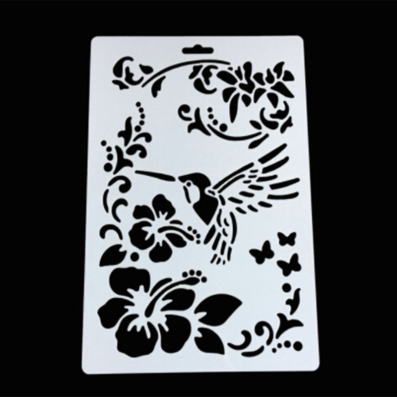 1PC Pastoral Bird Flower Shaped Reusable Stencil Airbrush Painting Art DIY Home Decor Scrap Booking Album Crafts