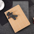 JIaLonG Wallet Leather With Cute Bear Hanging For Ipad 2 Protective Cover For Ipad 3 Tablet Case For 4 Universal Fundas
