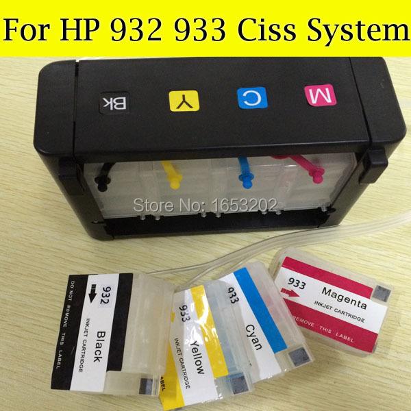 Prix pour 1 Set HP932 933 Système Ciss Pour HP Officejet 7512 7510 6600 6100 6700 7110 7610 Imprimante Avec Cartouche Mise À Jour ARC Puce