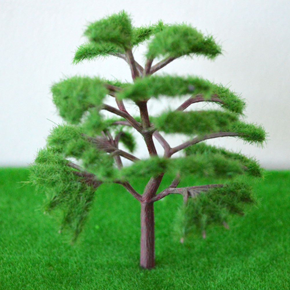 100pcs mini tree with foliage 50mm high train railway scence for architecture