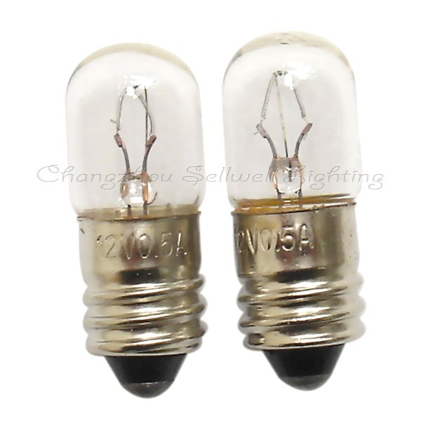 New!miniature Lighting Bulbs 12v 0.5a E10 T10x27 A307