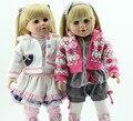 АМЕРИКАНСКИЙ ПРИНЦЕССА Блондинка длинные прямые волосы ДЕВУШКА Куклы 18 ''Reborn куклы Младенца полный ручной новорожденный ребенок boneca игрушки для маленьких детей