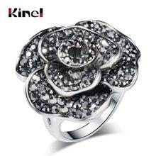 Женское Винтажное кольцо kinel роскошное в стиле ретро с черными