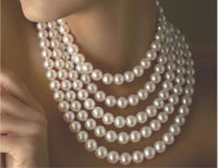 xiuli 003527 stunning 9 10mm south sea round white pearl necklace 80 inch 14KGP