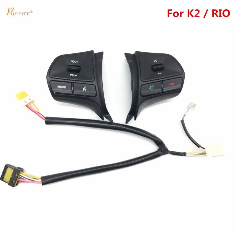 Para KIA RIO 2012-2013 multifuncional volante botón de control, Audio, canal y bluetooth envío libre
